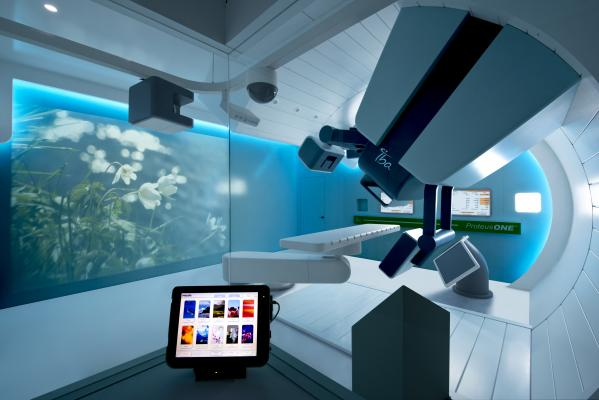 IBA, Institute Curie, proton therapy, experimental research beam line, install