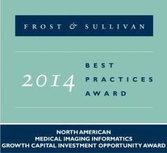 Frost & Sullivan, Calgary Scientific, award, 2014, growth, efficiency