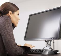 Computer_woman STOCK IMAGE