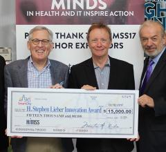 The team from Smart City Networks, the first corporate donor for the HIMSS Steve Lieber Innovator Scholarship