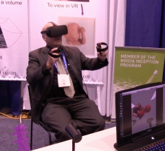 ITN Editor Dave Fornell tries his hand at virtual reality at RSNA 2017. He was named a 2018 Neal Award finalist for best range of work by a single author.