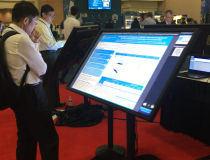 AAPM has converted from paper to digital poster session. Attendees used large touch screens to pick posters by topic or authors.