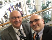 Mike Ciancio left, imaging systems administrator at Carolina East Health System, took time out at HIMSS to speak with ITN Editor Dave Fornell about advances in radiology informatics.