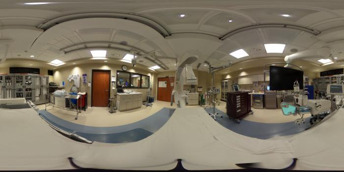 360 View of a Cath Lab at Northwestern Medicine Central DuPage Hospital