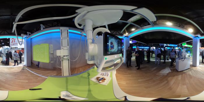 he DigitalDiagnost C90 is Philips newest premium digital radiography (DR) system, introduced here at the Radiological Society of North America (RSNA) 2018 meeting. It is the industry's first radiography unit with a live camera image directly displayed at the tube head to provide a clear view of the anatomical area being scanned during the patient positioning process.