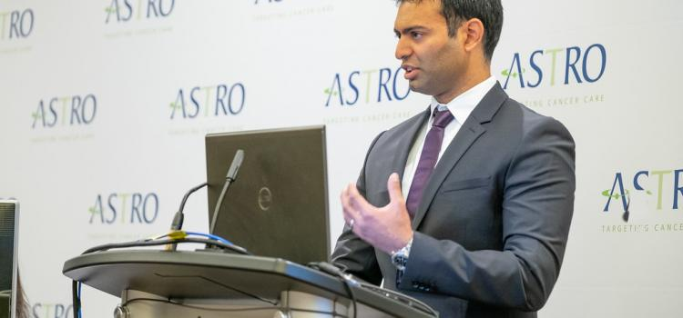 Amar U. Kishan, M.D., presents data about stereotactic body radiation (SBRT) therapy at ASTRO 2018. #ASTRO #ASTRO18 #ASTRO2018