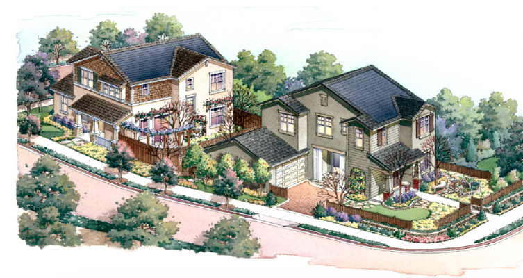 Starter Home plan 1 aerial view