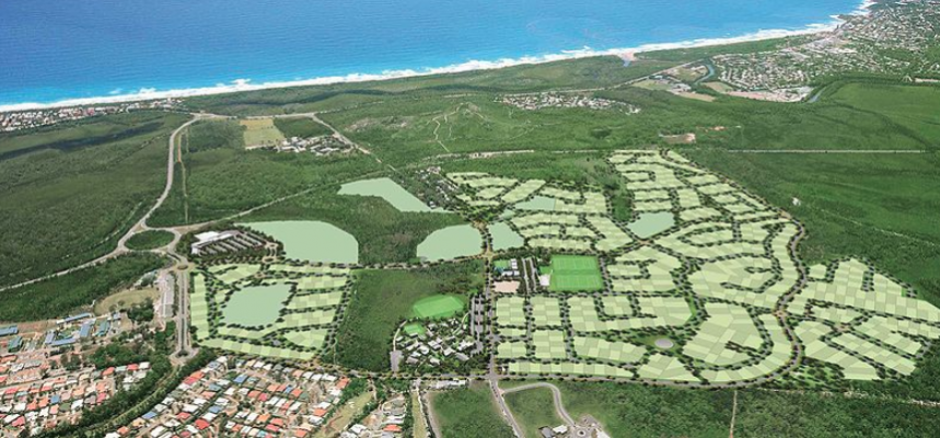 Aerial view of new housing developments