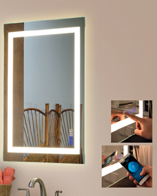 Strasser Woodenworks_Hi-tech Bluetooth Mirrors_lighting_bathroom products