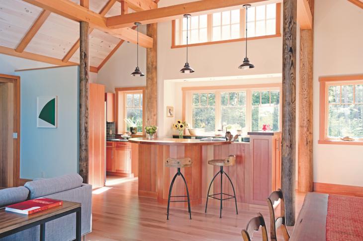 Modular home by Bensonwood_Photo: James R. Salomon_off-site construction methods