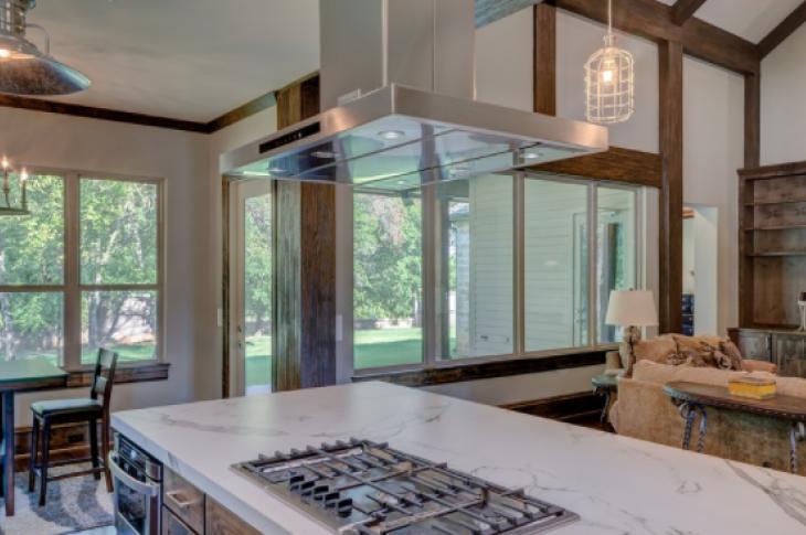 Kitchen range hood over island cooktop-Creative Commons Zero CC0-Max Pixel