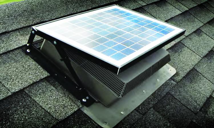 fully installed isolar solutions solar attic fan