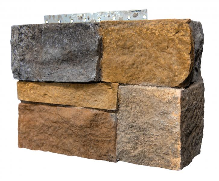 3 CertainTeed STONEfaçade Architectural stone Cladding Ledgestone Right Corner Appalachian Twilight