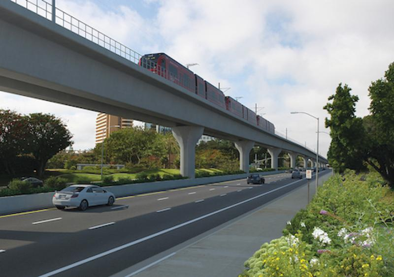 Rendering of the Genesee Viaduct; Mid-Coast Corridor Transit Project