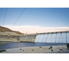 Grand Coulee Dam is a gravity dam on the Columbia River
