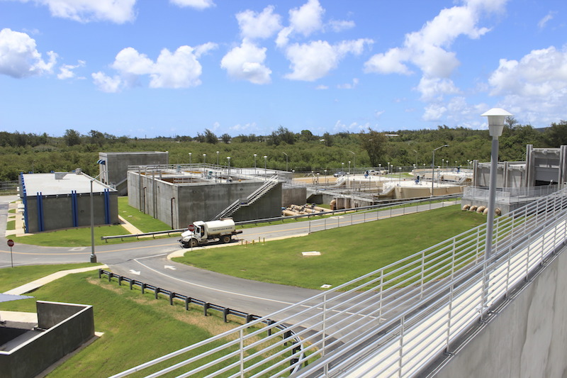 Guam Waterworks Authority commissions a replacement wastewater treatment plant with Guam's first ultraviolet (UV) disinfection process.
