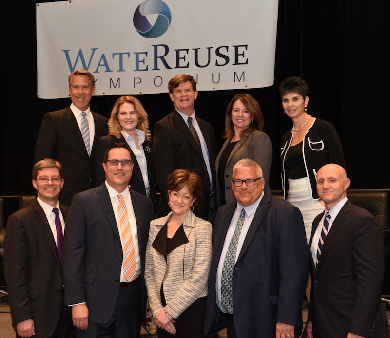 U.S. EPA leaders and WateReuse association leaders pose for a photo after EPA released its National Water Reuse Action Plan during the WateReuse Symposium in San Diego Sept. 10.