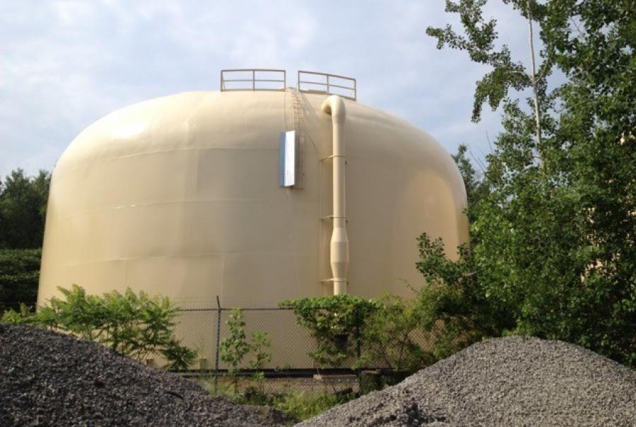 Pennsylvania American Water Company put a number of tanks out for repainting work in 2011