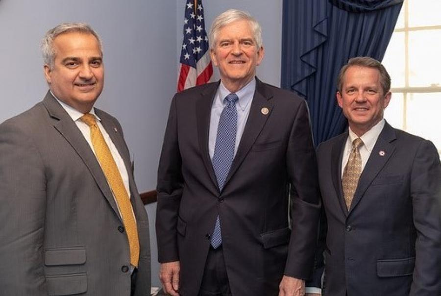 During the Plastics Pipe Institute DC Fly-In event,  Dan Currence (left) and Tony Radoszewski (right) of the Plastics Pipe Institute met with members of Congress including Daniel Webster (R) from Florida's 11th District, who is a member of the House Committee on Transportation and Infrastructure.