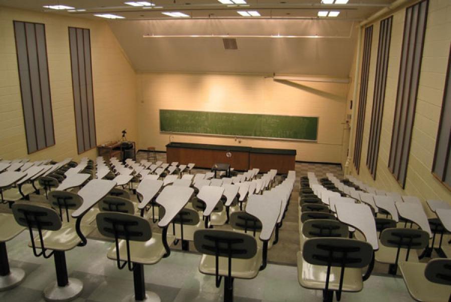University classroom setting