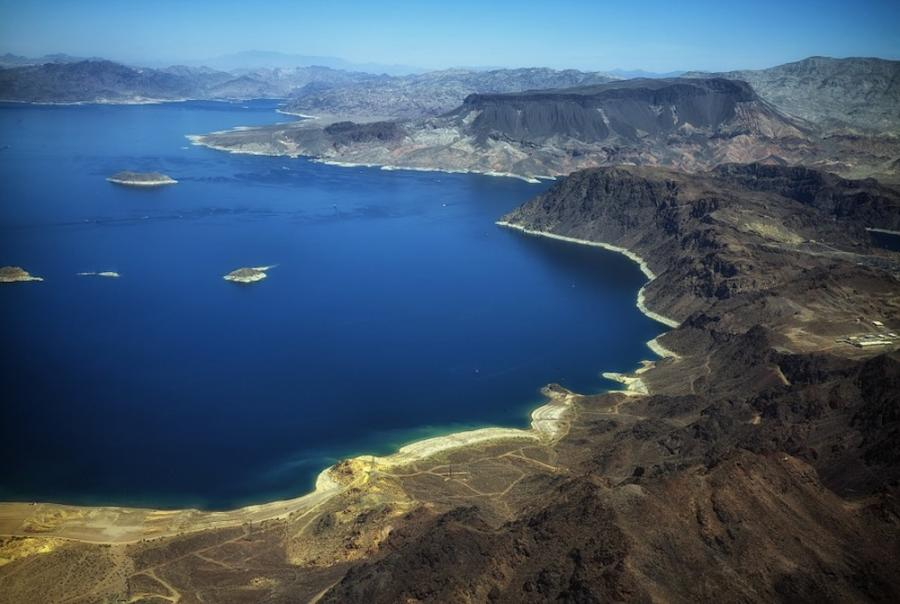 Temporary wastewater treatment plant set up to keep poullants from Lake Mead