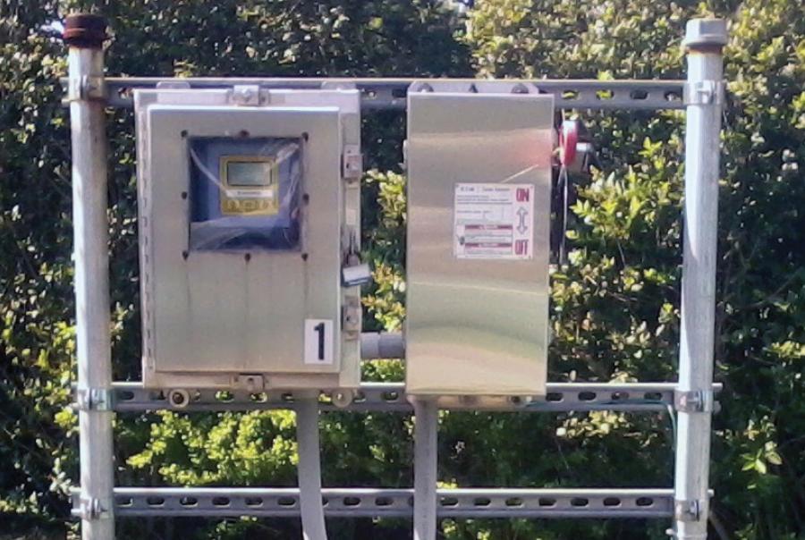 The city of Geneva's meter reading station